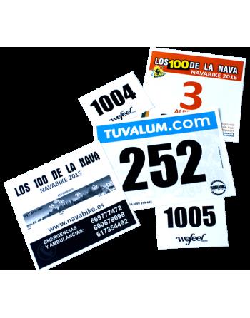 Dorsal Bici PVC 135 15x20 Cm